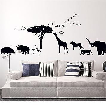 STAZSX-wallpaper Stazsx Afrikanische tier wandaufkleber elefanten ...