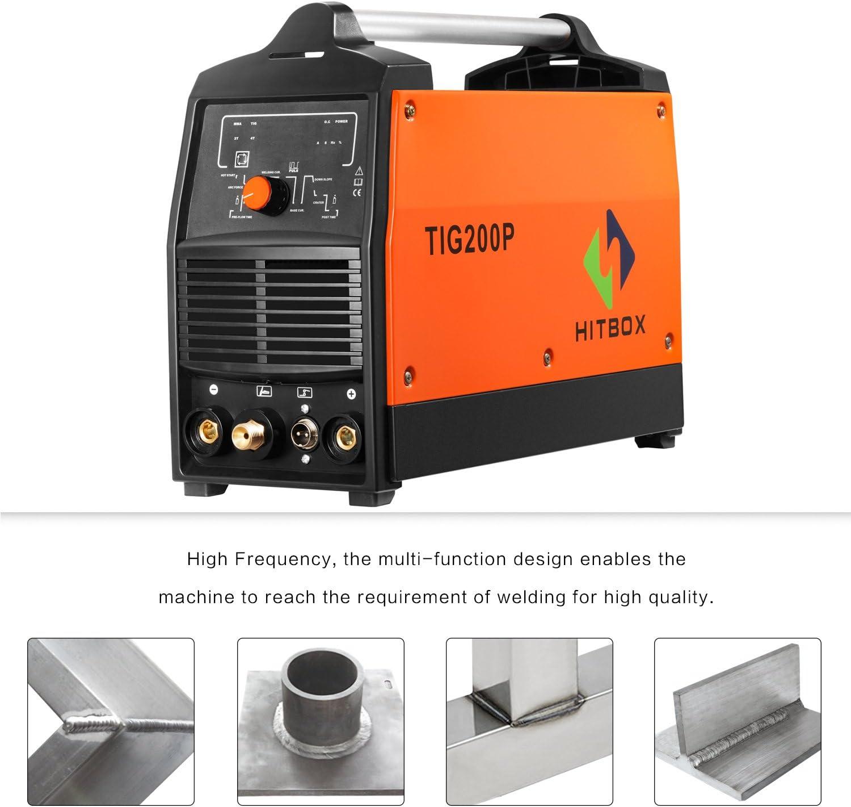 TIG200P 200A Inverter TIG Welder Pulse Digital High Frequency TIG Welding Machine MMA Stick Mosfet 60/% D//C Welder Machine Digital Control /…