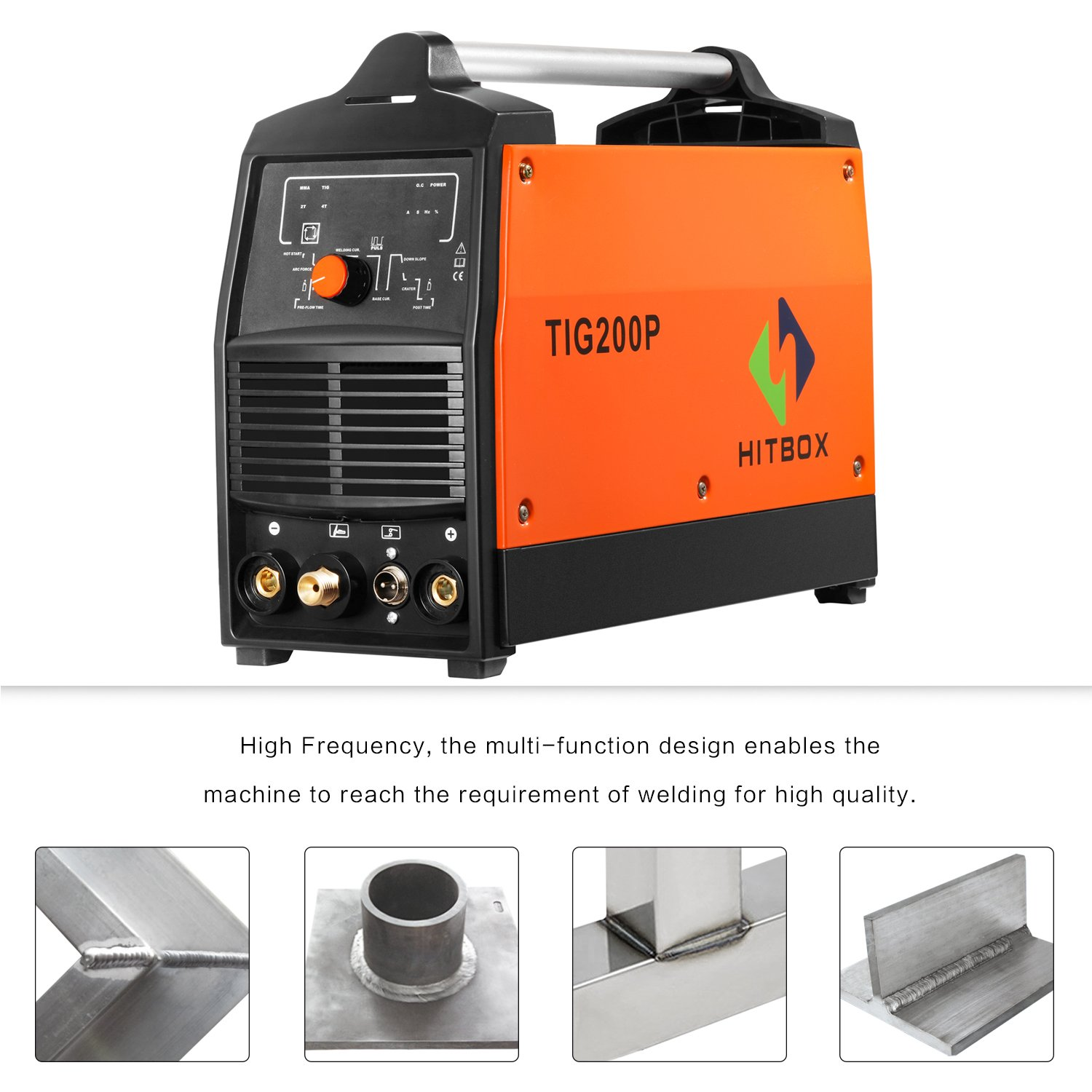 200A Inverter TIG Welder Pulse Digital High Frequency TIG Welding Machine  MMA Stick Mosfet 60% D/C Welder Machine Digital Control .