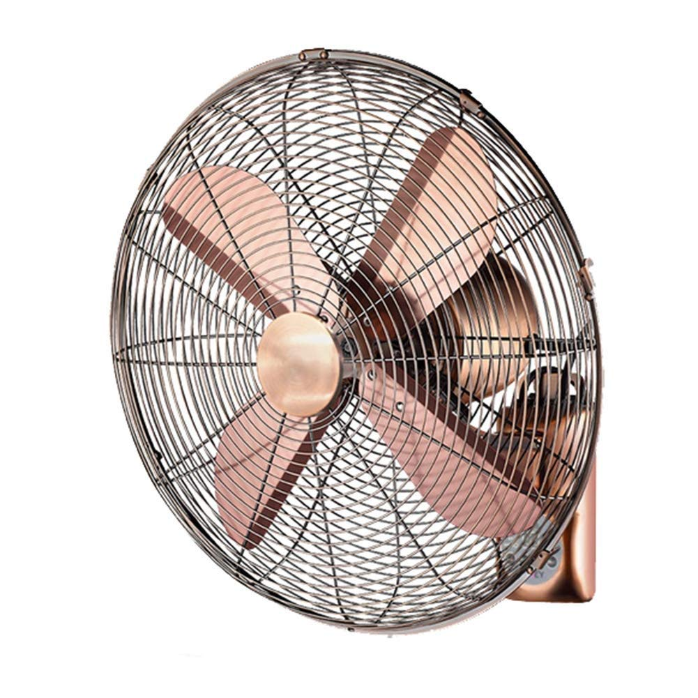 LAZ Wall Fan Retro Antique Cooling Fan Electric Fan Industrial Oscillating Wall Mount Oscillating Exhaust Fan (Size : 18inch) by LAZ