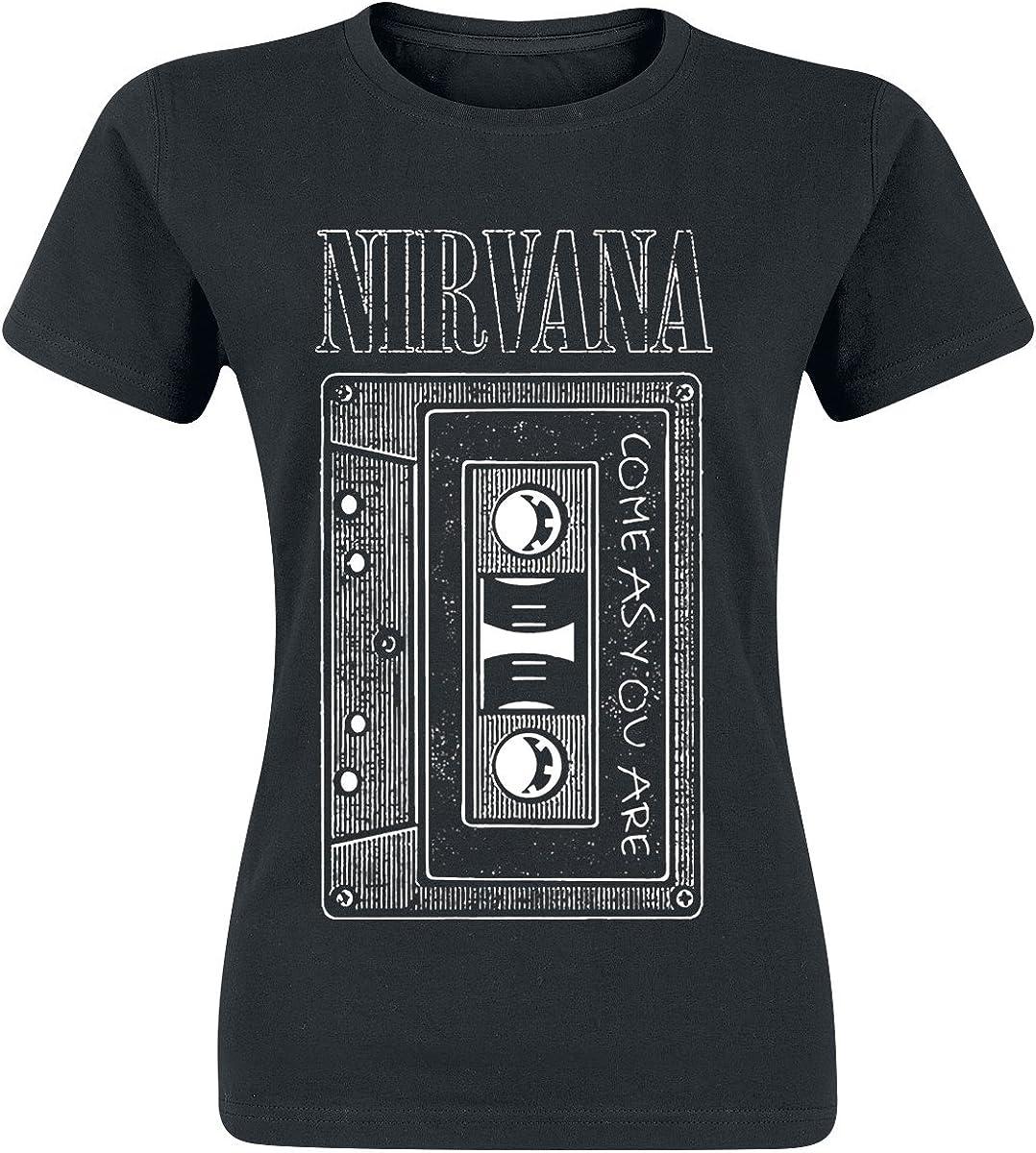 Nirvana Shirt Come As You are Femme Noir
