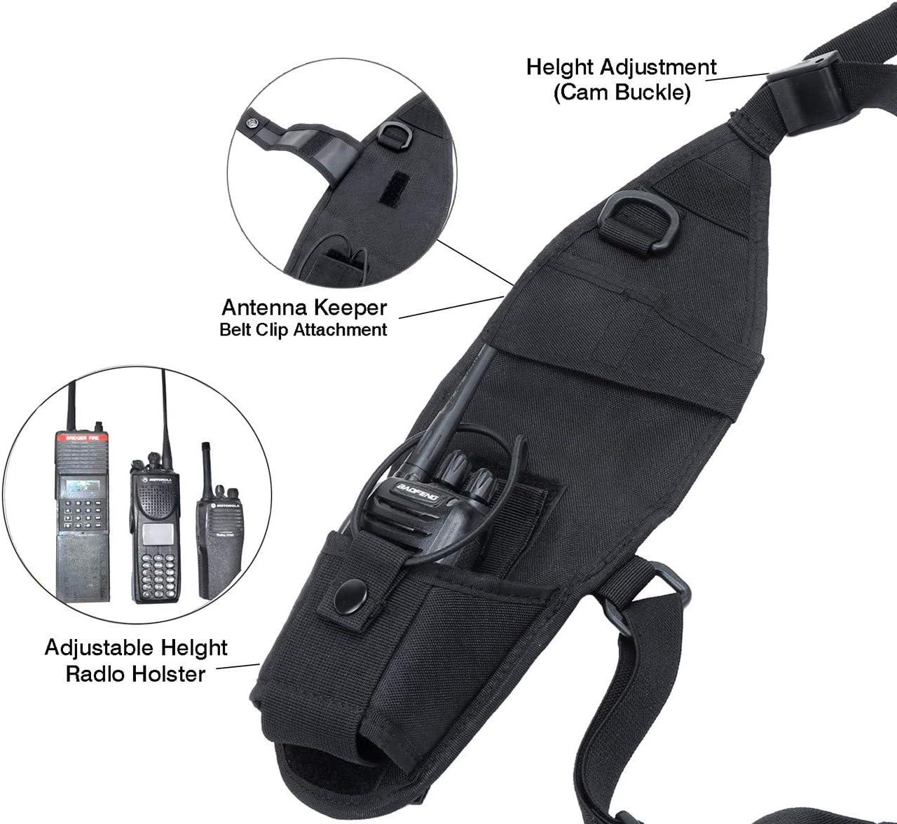 Radioswap /Étui de transport et harnais de poitrine compatible avec toutes les radios bidirectionnelles Icom