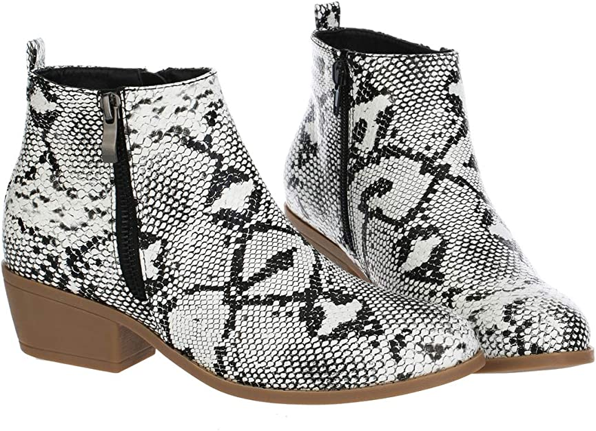Womens Snakeskin Booties Snake Skin Ankle Boots