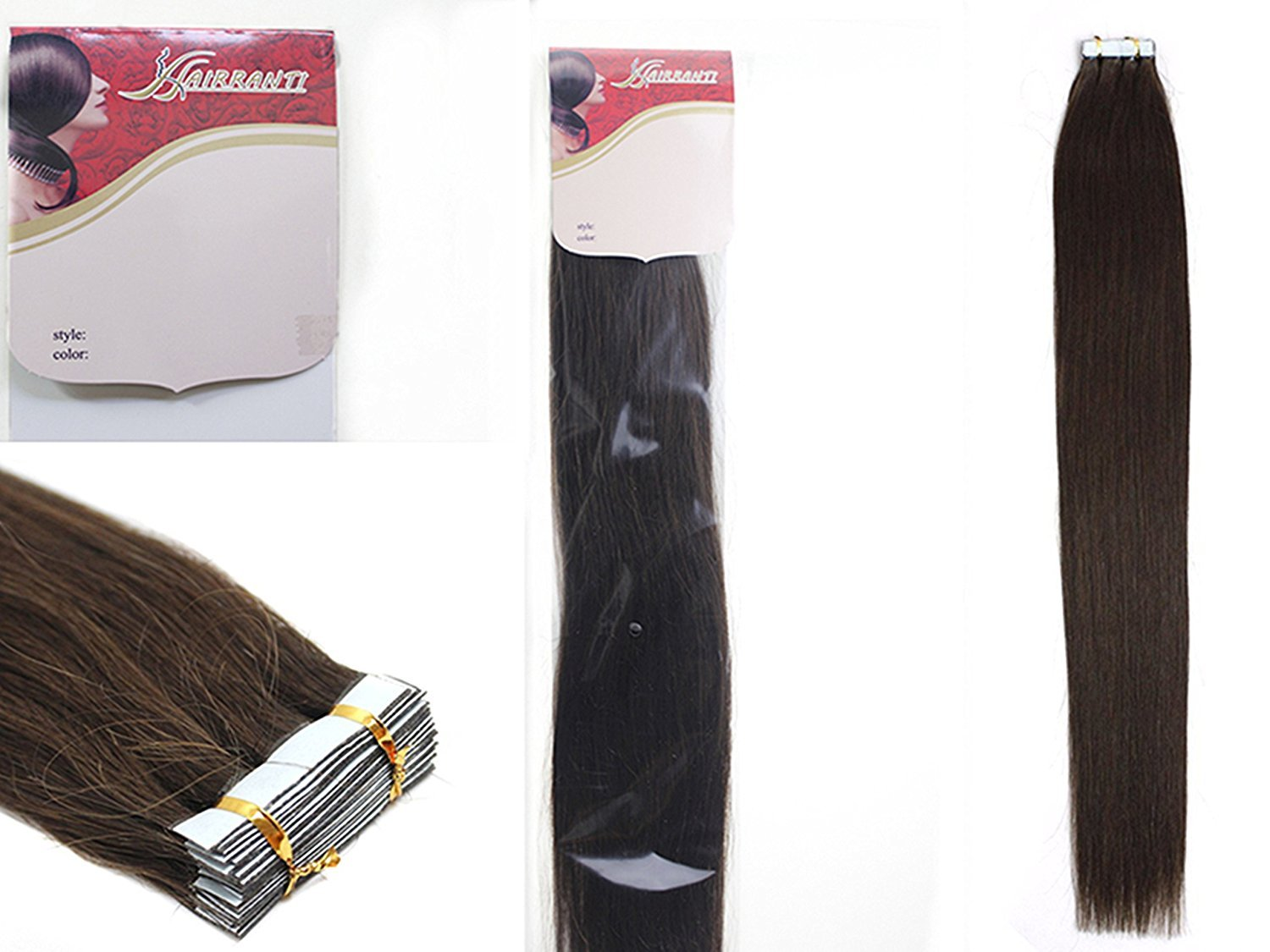 Amazon.com : 16\'\'18\'\'20\'\'22\'\' 24\'\' Tape - In Real Human Hair ...