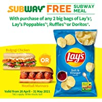 Lay's Salt and Vinegar Potato Chips, 184.2g