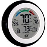 Pro Series High End Humidity Monitor& Temperature Gauge, Easy to Read: Simple Accurate Meter with Max / Min History Perfect for Your Home Baby / Nursery / Kids Room, Basement, Wine Room or Car