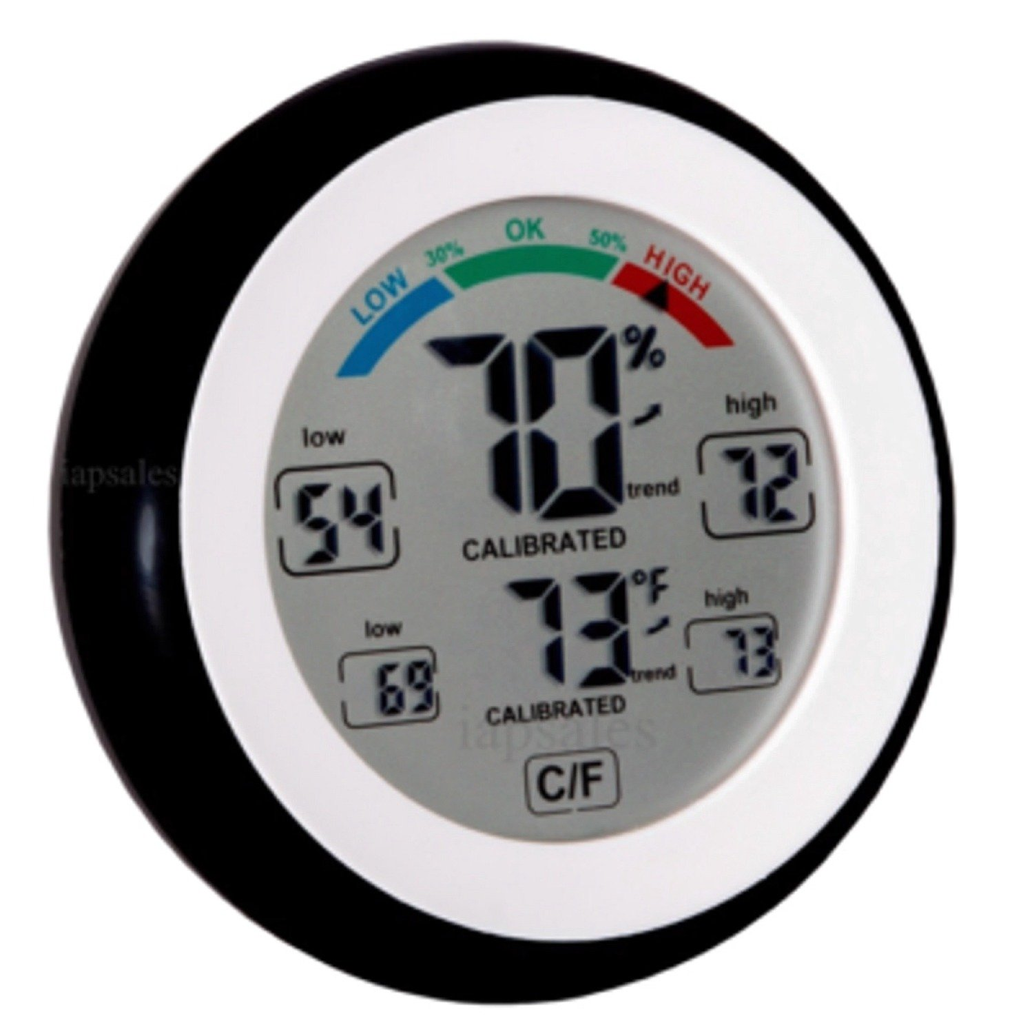 iapsales Pro Series High End Humidity Monitor& Temperature Gauge, Easy to Read: Simple Accurate Meter with Max/Min History Perfect for Your Home Baby/Nursery/Kids Room, Basement, Wine Room or Car by iapsales