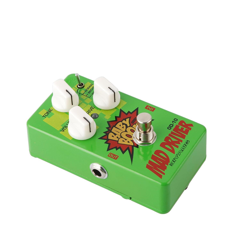 amazon com biyang od 10 mad driver guitar pedal musical instruments