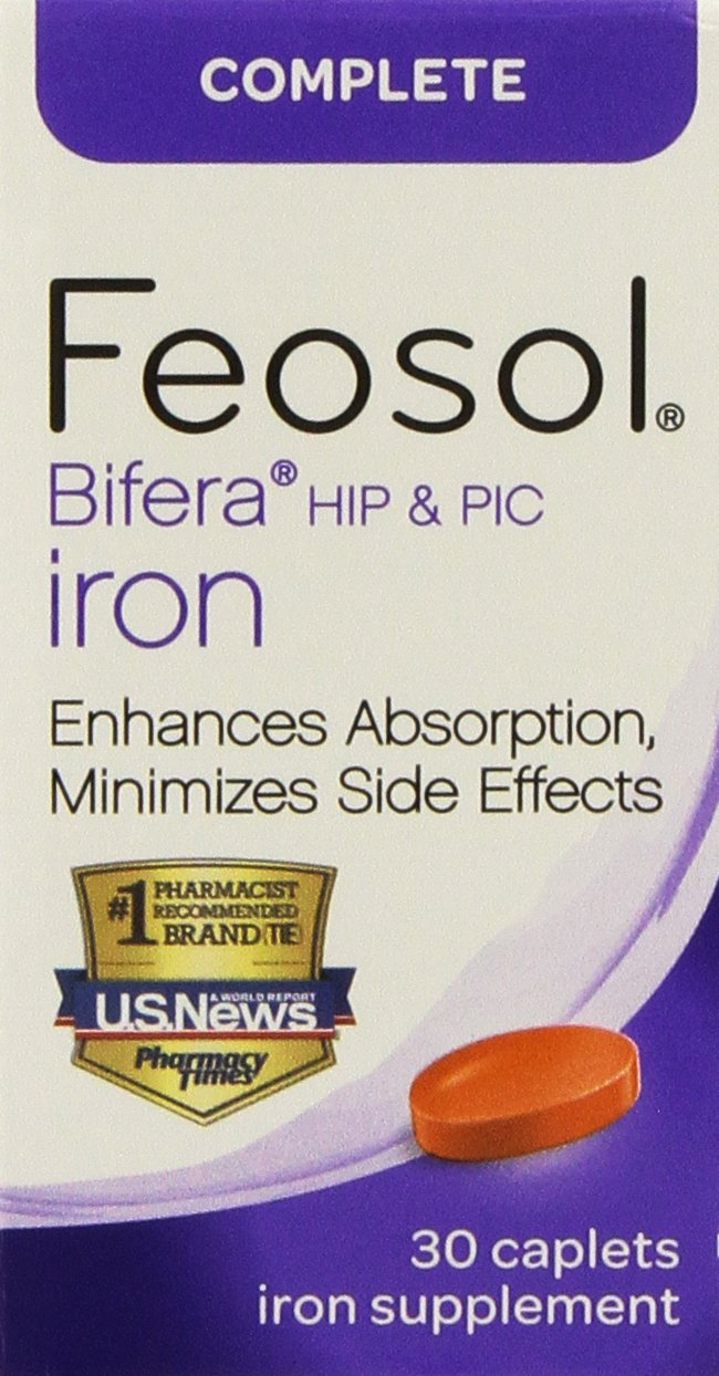 Feosol Complete with Bifera 30 Caplets (2 Pack)