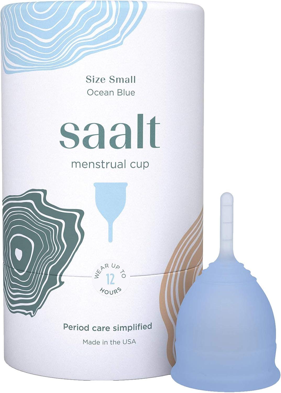 Copa menstrual Saalt - La copa más cómoda para el período - Copa n.º 1 - Suave, flexible y reutilizable - Silicona de grado médico - Fabricada en EE. ...