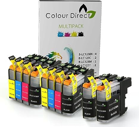 10 XL Colour Direct LC123 / LC121 Cartuchos de Tinta Con Chip Para ...