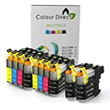 10 XL Colour Direct Compatible Ink Cartridges Replacement For Brother LC123 DCP-J132W DCP-J152W DCP-J552DW MFC-J650DW DCP-J752DW DCP-J4110DW MFC-J870DW MFC-J4410DW MFC-J4510DW MFC-J4610DW MFC-J4710DW MFC-J470DW MFC-J6720DW MFC-J6920DW MFC-J6520DW MFC-J870DW Printers