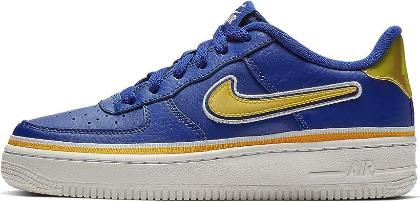 Amazon.com | Nike Kid's Air Force 1 LV8 Sport GS, White/Black