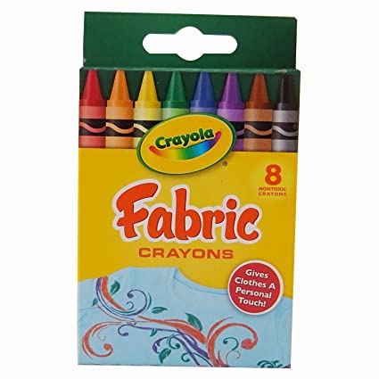 amazon com crayola 52 5009 fabric crayons 8 pkg primary 2 packs