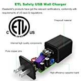 Dual USB Wall Plug Charger 2.1A With Fast Braided