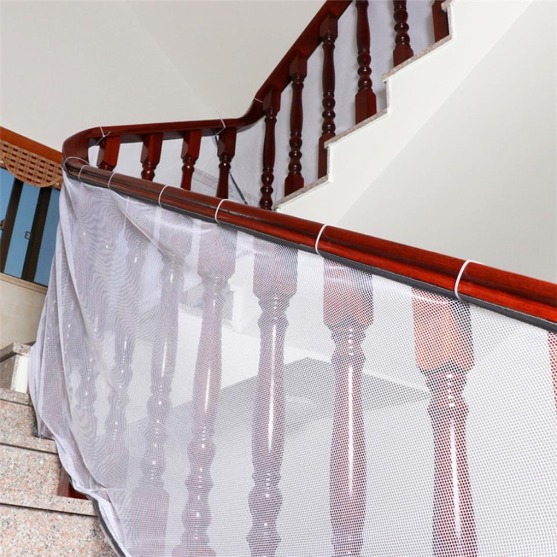 STRIR Niños engrosamiento de seguridad valla protección red de seguridad red valla de balcón Kids seguridad escaleras Protector niño bebé Talla - 200 * 77cm STRIR-Casa