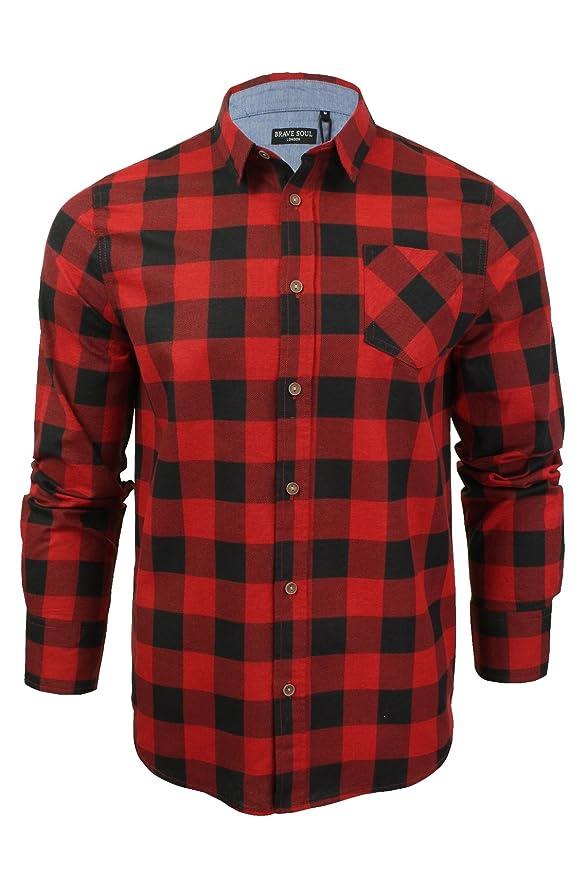 47 opinioni per Brave Soul Uomo JackD Camicia A Quadri Design Chambray Dettaglio Top In Cotone