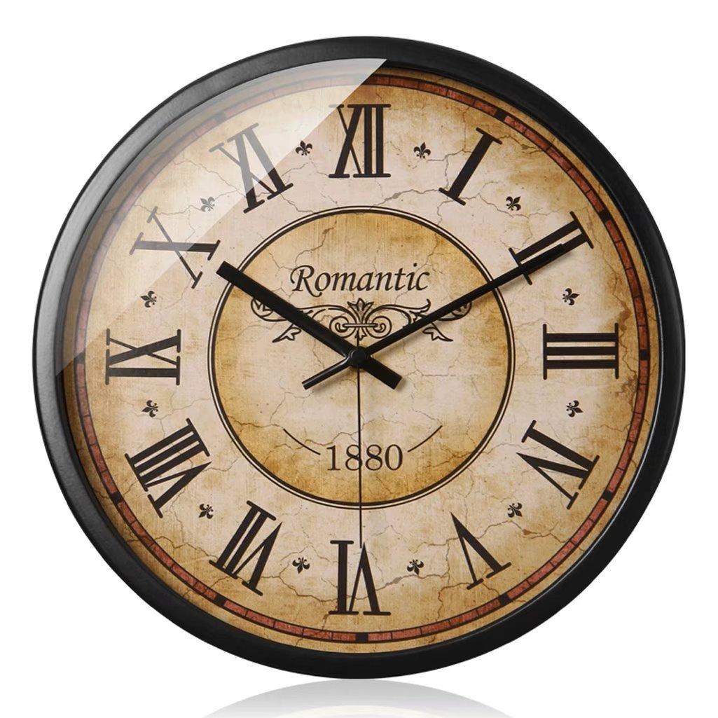 A-KUYA アメリカ風 復古 石英時計 シンプル 数字時計 ローマ字時計 デザイン 壁掛け インテリア リビング 敬老の日 ギフト おしゃれ 掛け時計 デジタル 静か 電池式 静音 二色 二サイズ B0721JZTR2モデル1 幅30cm*高さ30cm