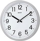 リズム時計 クォーツ 掛け時計 アナログ フラットフェイスDN 見やすい オフィス モデル 白 DAILY ( デイリー ) 4KGA06DN19