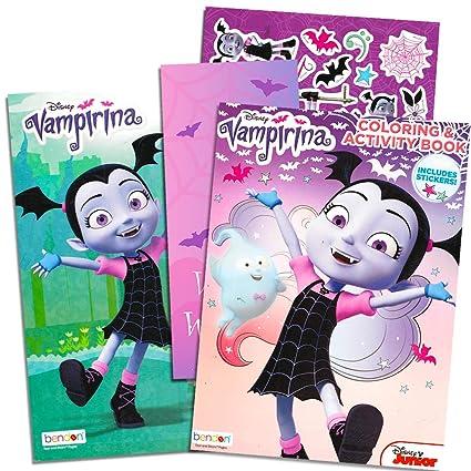 Amazon Com Disney Vampirina Coloring Book Super Set 2 Jumbo