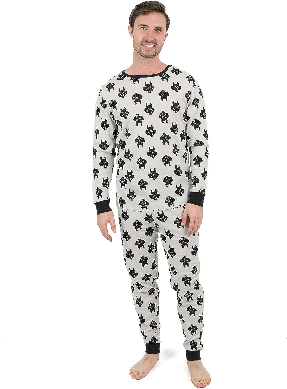 Leveret Mens Pajamas 2 Piece Pajama Set 100% Cotton (Size Small-XX-Large)