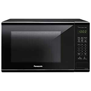 PANASONIC Countertop Microwave Oven with Genius Cooking Sensor, Quick 30sec, Popcorn Button, Child Safety Lock and 1100W of Cooking Power - NN-SU656B - 1.3 cu. ft (Black)