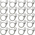 """Bayyee 25.5"""" Stainless Steel Stage Light Safety Cable Security Wire For Par Light Moving Head Light Heavy Duty Lamps (20pcs Silver)"""