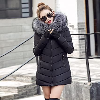 Womens Parka Winter Jacket Parka Oblique Zipper With Hat Long Winter Jackets And Coats Camperas Mujer