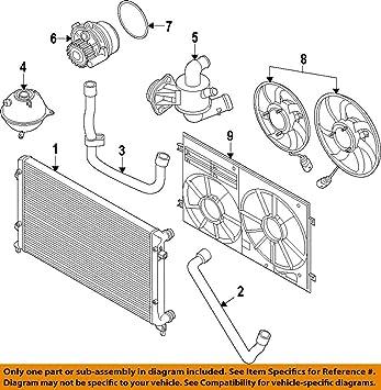 For VW Beetle 2.0L Radiator Lower Return /& Upper Supply Coolant Water Hoses Kit