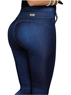 Rose Mid Rise Butt Lifting Skinny Colombian Jeans Colombianos Levanta Cola