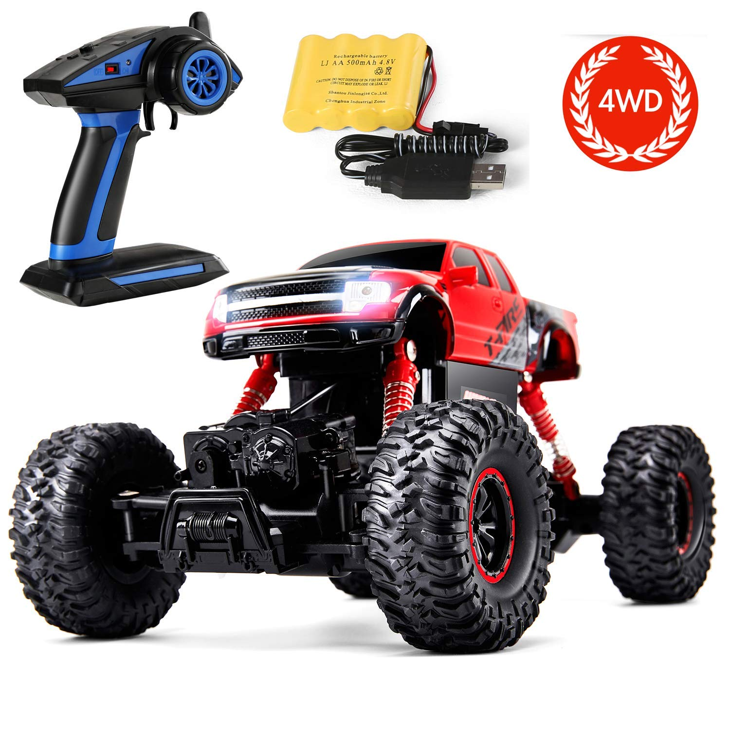 95c9077dbd Amazon.com  Remote Control Trucks with Full-Time 4-Wheel Drive System