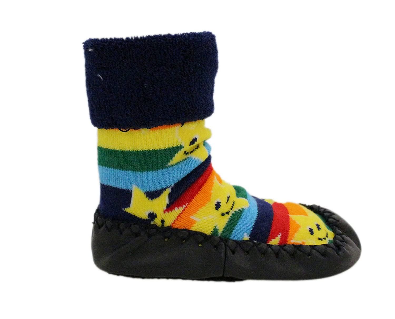 Amazon.com: Baby Rainbow Stars Thick Winter Anti-slip Shoes Socks Moccasins Age 1 2 3 …: Clothing