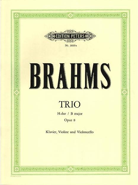 BRAHMS J. - TRIO N 1 SIb M (SC+PT) V/VCP - OP.8: Amazon.es ...