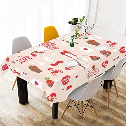 Amazon Com Interestprint Tablecloth Happy Valentine S Day Home