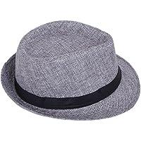ZachariasMen's Fedora Hat (Grey)