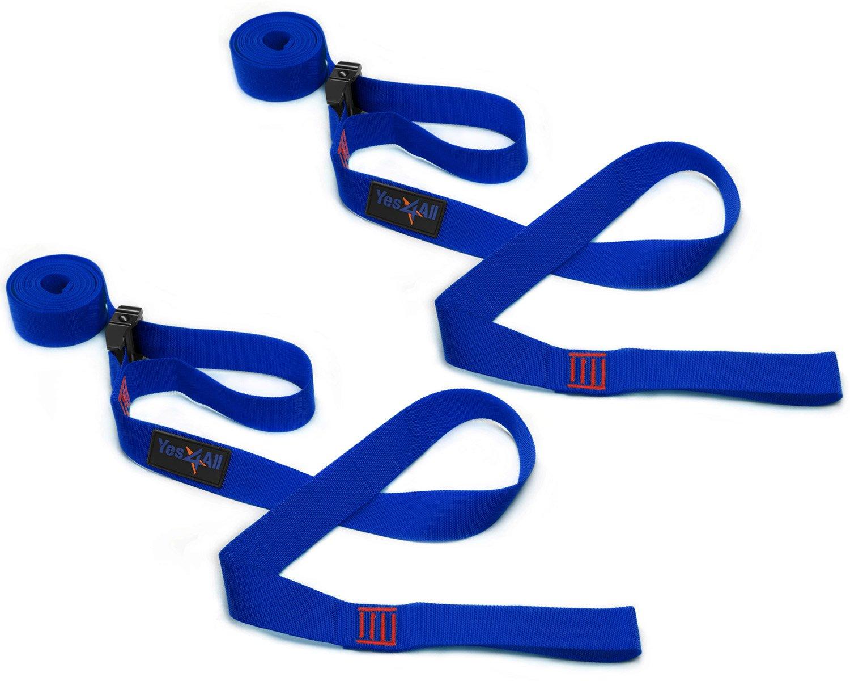 Yes4All Double Hammocks - Ultralight Portable Nylon Parachute Hammock for Light Travel, Camping, Hiking, Backpacking. Hammock Stuff Bag Included (K - Tree Strap - Dark Blue)