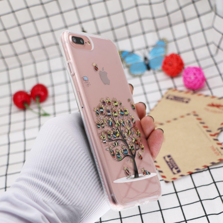 GoldSwift Funda iPhone 8 Plus, Transparente Funda para iPhone 8 Plus, iPhone 7 Plus, iPhone 6S Plus y iPhone 6 Plus (Abejas): Amazon.es: Electrónica