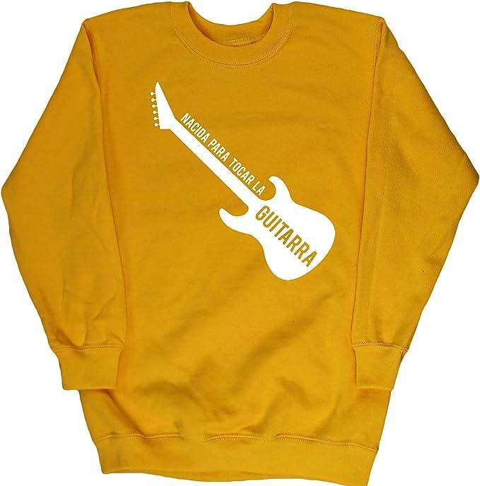 Hippowarehouse Nacida para Tocar La Guitarra (Eléctrica) Jersey ...
