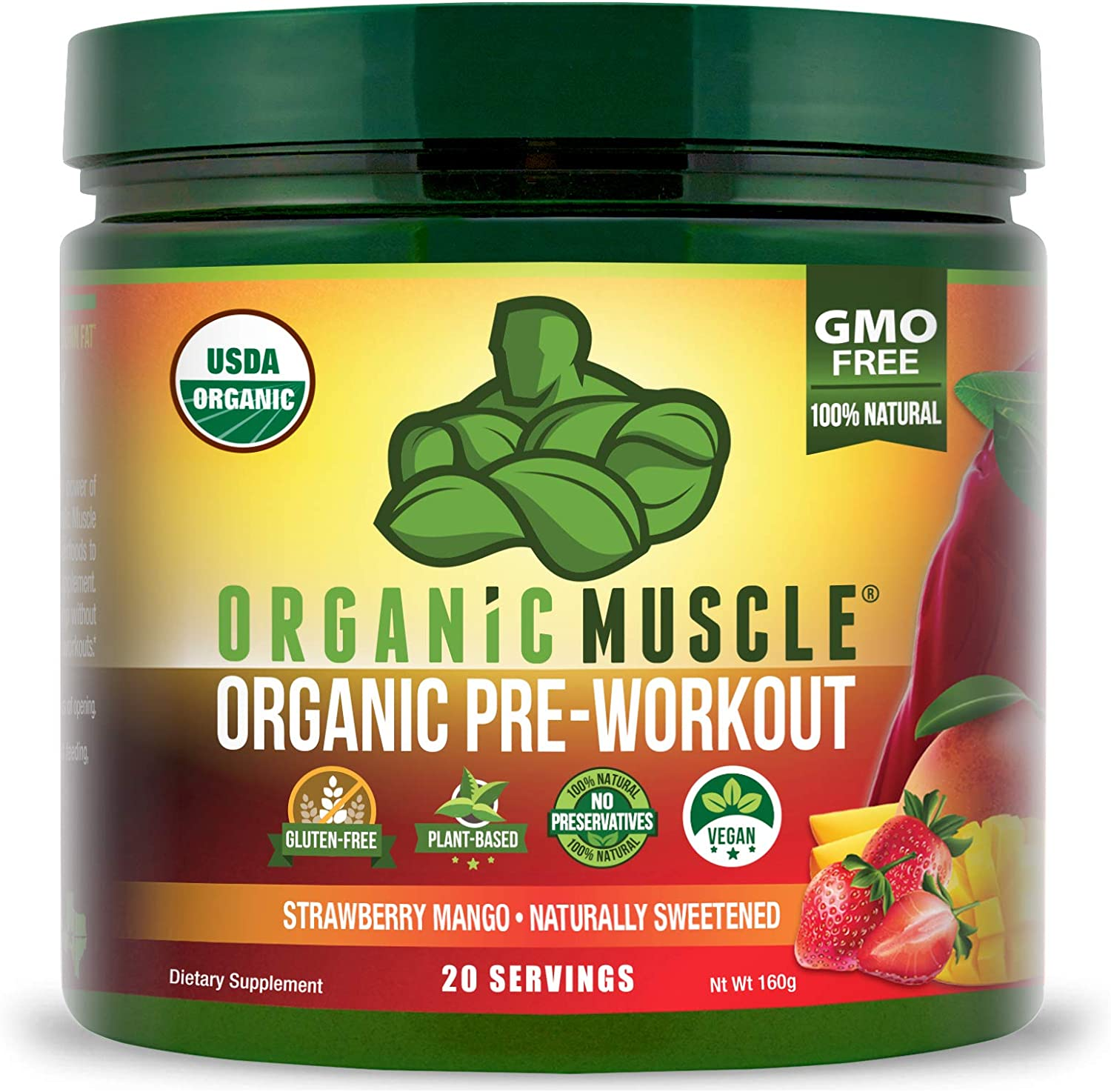 Amazon.com: Organic Muscle #1 Rated Organic Pre Workout Powder ...