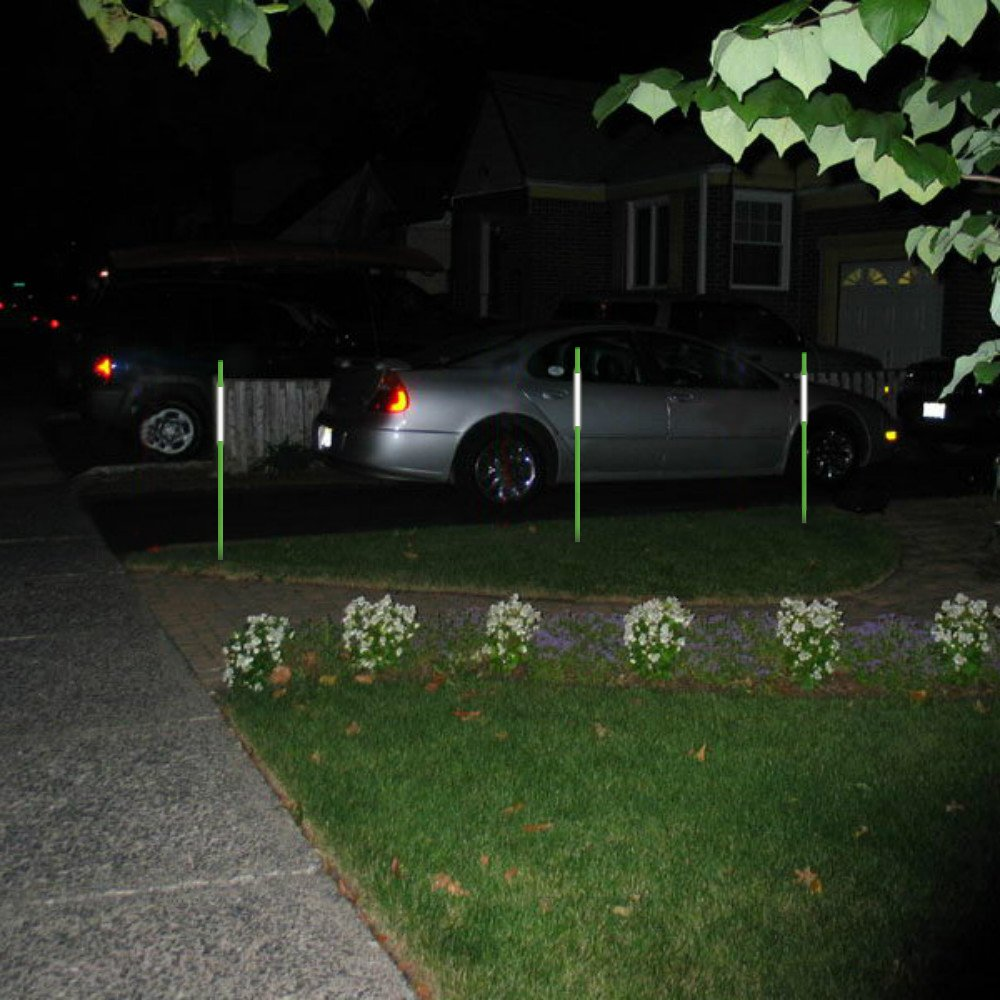 Fibermarker 60Inch Reflective Driveway Markers 5/16Inch Green Solid Driveway Poles for Easy Visibility at Night (100) by FiberMarker (Image #4)