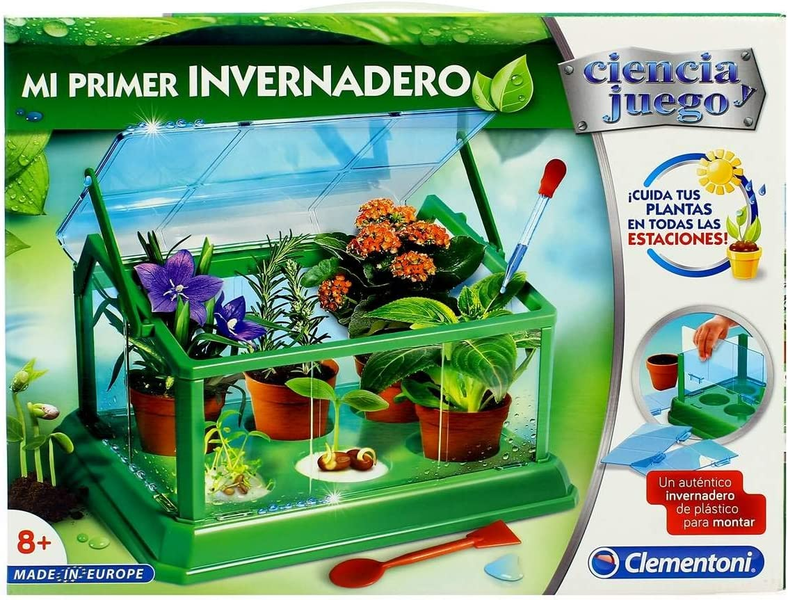 Clementoni- Juego Mi Primer Invernadero +8años 35x26 (55214)