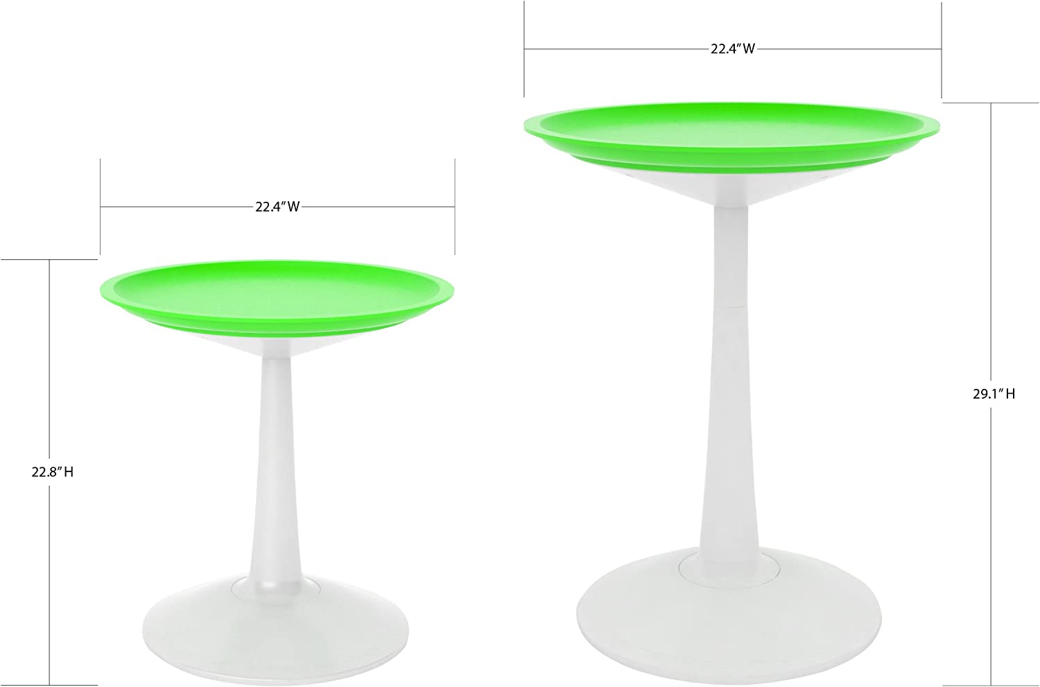 Lagoon Furniture Lagoon Sprout Round Side Table White