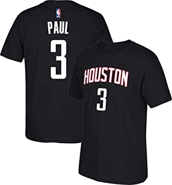 new arrival de71f 2ab6d Chris Paul Houston Rockets #3 Black Youth Name and Number Youth T-Shirt