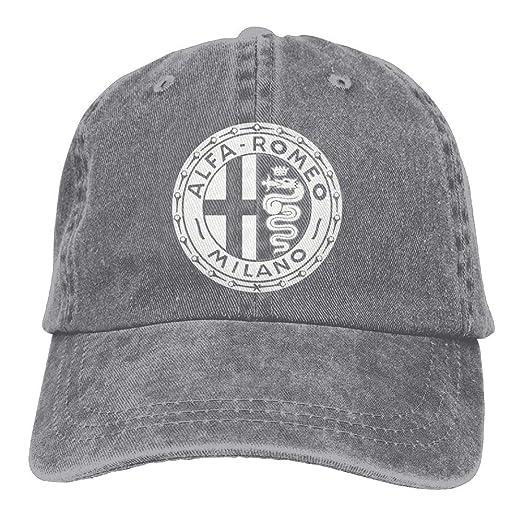 11496035 Alfa Romeo Circle Euro Youth Baseball Cap Retro Peaked Snapback Hat at  Amazon Men's Clothing store: