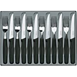 Victorinox Steak Knives & Fork Set of 12 Pieces Round Tip