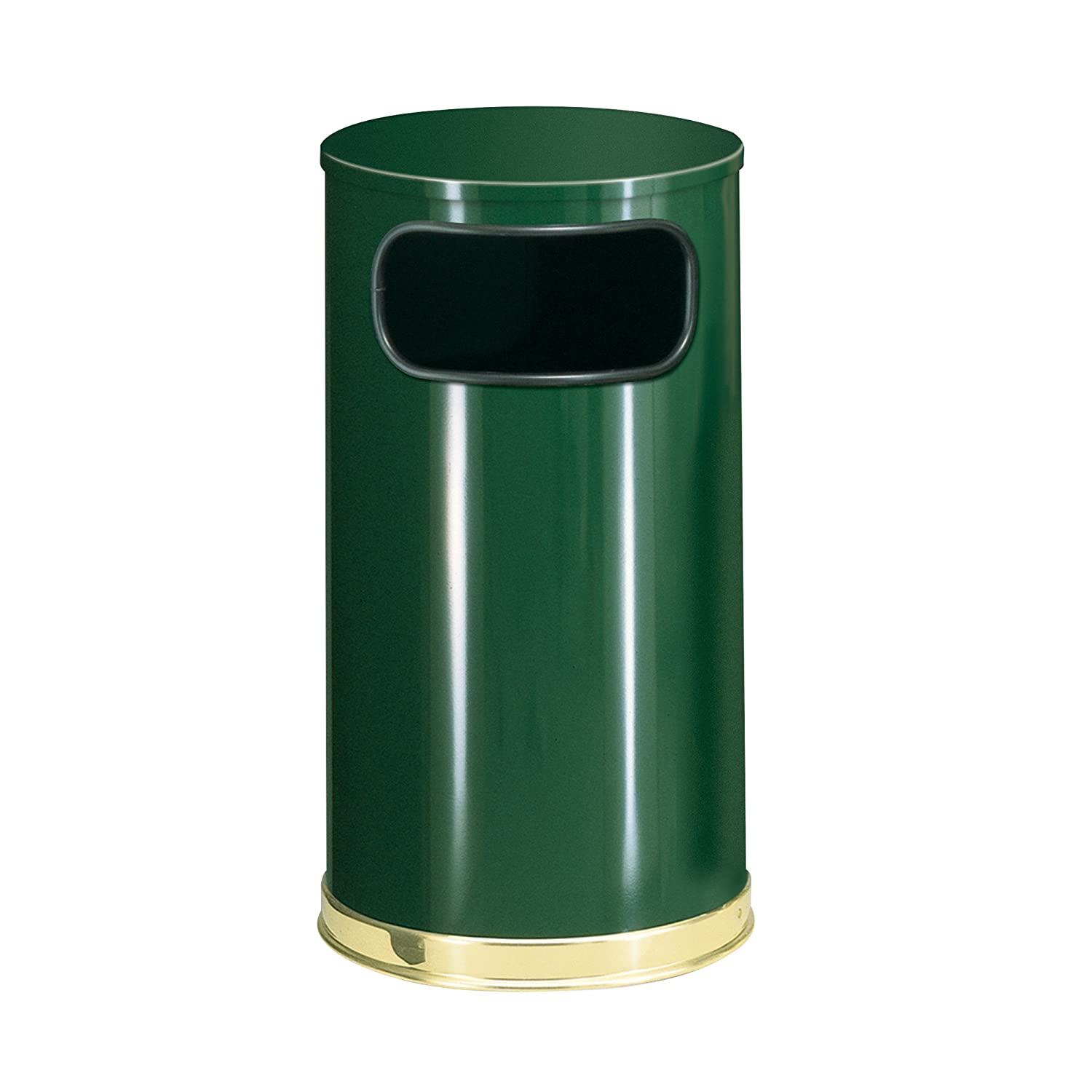 B001ANQT92 Rubbermaid Commercial Products FGSO1610GLEGN Side Open Refuse Container, Round, 12 gal 71p4BQCUX-L._SL1500_