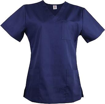 JONATHAN UNIFORM Camisa Médica Uniforme Sanitario para Mujeres Cuello V Manga Corta, Camisa de Uniforme Médico Ropa Casaca Sanitaria: Amazon.es: Ropa y accesorios