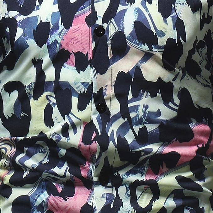 Amazon.com: kaifongfu Mens Shirts,Clearance Leopard Printed Blouse Long Sleeve Slim Shirts Tops for Men: Clothing