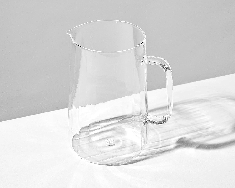 Jarra de agua de vidrio soplado a mano Rivington Jug transparente por Yod and Co 1,7 L