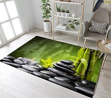 Amazon.com: Spa Black Zen Stones Area Rugs Candle Green ...